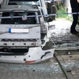 Malmö: Politiet spærrer af, efter at en eksplosion har ødelagt en bil.