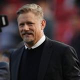 Peter Schmeichel havde en stor klubkarriere i Manchester United og var i 1992 med til at sikre Danmark EM-guld i Sverige. Efter karrieren er den i dag 55-årige Schmeichel blevet brugt som fodboldekspert på engelsk tv (arkivfoto). Lee Smith/Ritzau Scanpix