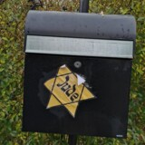 I Silkeborg vågnede famiien Chievitz op til en nazistisk jødestjerne deres postkasse lørdag morgen.Foto: Privatfoto