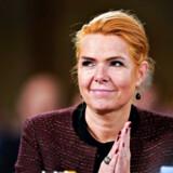 Næstformand Inger Støjberg ved Venstres landsmøde i Herning Kongrescenter. Hun forsikrer, at Venstres linje på udlændingepolitikken er den samme.