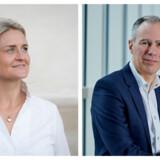 Christina Bisgaard Laursen og John Henriksen rykker op i TDC-koncernen. Fotos: TDC