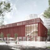 Big Bio i Nordhavn kommer til at bo i en bygning, der står til at få en guldcertificering, blandt andet fordi den er bygget, så den nemt kan bruges til andre formål, hvis Nordhavn en dag ikke længere har brug for en biograf. Rendering: NREP