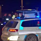 """Politiet er tirsdag aften massivt til stede i området omkring psykiatrisk afdeling på Slagelse Sygehus på grund af en """"alvorlig hændelse"""" tirsdag den 19. november 2019. . (Foto: Pressefotos.dk/Ritzau Scanpix)"""