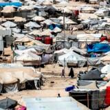 Arkivfoto. Al-hol-lejren i Syrien. Her bor tusindvis af kvinder og børn, som blev sendt på flugt, da Islamisk Stats selverklærede kalifat kollapsede.