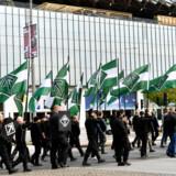 Organisationen Nordfront har afdelinger i hele Norden – som her i Sverige, hvor medlemmer af organisationen ses til en demonstration. Personerne på billedet har ikke relation til denne artikel om Nordfront.