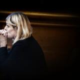 Forsvarsminister Trine Bramsen under statsminister Mette Frederiksens spørgetime i Folketingssalen, tirsdag efter pressemødet i Forsvarsministeriet. »Jeg er overhovedet ikke tilfreds med sagen. Det, tror jeg, er gået op for alle,« sagde Bramsen ved pressemødet.