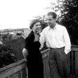 Helle Virkner og Ebbe Rode. Han var længe hendes læremester, der guidede den endnu ikke etabklerede Helle Virkner i karrieren.