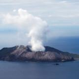 Vulkanøen Whakaari – også kendt som White Island blandt de mange turister, der hvert år besøger stedet.