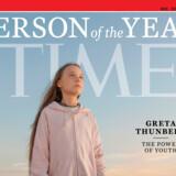 Greta Thunberg blev kåret til årets person af Time med en stor forside, efter hun er blevet ansigtet på ungdommens klimabevægelse. Evgenia Arbugaeva/Ritzau Scanpix