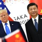 (ARKIV) Foto af Donald Trump og Xi Jinping.