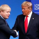 Arkivfoto. Donald Trump lykønsker på twitter Boris Johnson med valget.