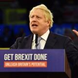 Boris Johnson til en tale d. 11 december.