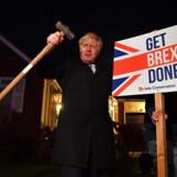 Boris Johnson gik ud med et klart budskab. Det gav ham en meget sikker valgsejr. Foto: Ben Stansall/Reuters/Ritzau Scanpix