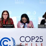 Chile's Minister of Environment and COP25 president Carolina Schmidt (L) attends an Informal Presidency stock-taking plenary during the UN Climate Change Conference COP25 at the 'IFEMA - Feria de Madrid' exhibition centre, in Madrid, on December 15, 2019. - A UN climate summit in Madrid was on life support after marathon negotiations between countries left them more divided than ever over on how to fight global warming and pay for its ravages. Diplomats from rich nations, emerging giants and the world's poorest countries - - each for their own reasons - - found fault with a draft agreement put forward by host Chile in a botched attempt to strike common ground. (Photo by OSCAR DEL POZO / AFP)