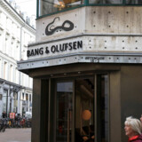 Bang & Olufsen's sign is seen at their flagship store in Copenhagen, Denmark, October 2, 2019. Picture taken October 2, 2019. REUTERS/Andreas Mortensen