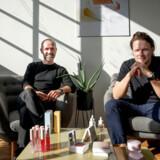 Goodiebox, der er udpeget som en ud af ti virksomheder, som det i høj grad er værd at holde øje med i 2020, indgik tidligere på året et samarbejde med en global amerikansk butikskæde i salget af virksomhedens eget beautybrand, Comme Deux. Her ses adm. direktør Rasmus Schmiegelow sammen med Nikolaj Leonhard-Hjorth, medstifter af Goodiebox.