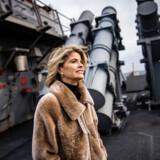 Den amerikanske ambassadør i Danmark, Carla Sands, besøger orlogsfartøjet USS Porter, mens det ligger ved kaj i Nordhavn i København.
