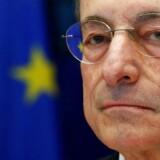 Selv om Danmark var blandt de første til at anvende negative renter, var det Den Europæiske Centralbanks chef Mario Draghi, der for alvor gjorde dem til et pengepolitisk redskab. Arkivfoto: Francois Lenoir/Reuters/Ritzau Scanpix