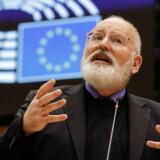 Frans Timmermans, her under et møde i Bruxelles, er personligt og politisk ulykkeligt forelsket i briterne.