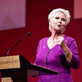 Har erhvervsminister Simon Kollerup lige udnævnt Lizette Risgaard til hovedaktionær i regeringens erhvervspolitik? Her taler Risgaard på Socialdemokratiets kongres.