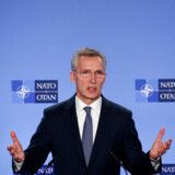 NATO Secretary General Jens Stoltenberg briefs media after a meeting of the Alliance's ambassadors over the security situation in the Middle East, in Brussels, Belgium January 6, 2020. REUTERS/Francois Lenoir