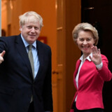 Den britiske premierminister, Boris Johnson, havde onsdag et positivt møde med EU-Kommissionens formand, Ursula von der Leyen, oplyser Downing Street. Toby Melville/Reuters
