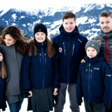 Photos of the Crown Prince family the day of the children's school start at Lemania-Verbier International School in Verbier, Switzerland. The Crown Prince couple's children Royal Highnesses Prince Christian, Princess Isabella, Prince Vincent, and Princess Josephine begin a 12-week school program at Lemania-Verbier International School in Switzerland on Monday, January 6, 2020. Note: Distribution on newswire is Denmark only. International distribution is commission based feature export. . (Foto: Ida Guldbæk Arentsen/Ritzau Scanpix)
