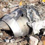 Vragdele af flyet, der tilhørte Ukrainian International Airlines, som natten til onsdag styrtede ned over Iran.