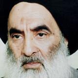 Iraks storayatollah, Ali al-Sistani, reagerer på de seneste kamphandlinger i Irak mellem USA og Iran. Søg fred i stedet for konflikt, er hans opfordring. (Arkiv) Ho/Ritzau Scanpix