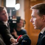 Kristian Thulesen Dahl (DF) taler med pressen før et ekstraordinært møde i Udenrigspolitisk Nævn om Iran og Irak på Christiansborg, onsdag den 8. januar 2020.