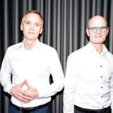 Adm. direktør Lars Pærregaard (tv.) og forretningsdirektør Kenneth Ohlendorff, som er en del af den nye ledelse i det Blackstone-ejede ejendomsselskab Kereby, har besluttet, at det skal være billigere at bo til leje hos Kereby. Det betyder, at beboerne i 300 af deres lejemål får en huslejenedsættelse.