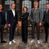 Hovedpersonerne i Løvens Hule på DR. Fra venstre: Jacob Risgaard, Christian Arnstedt, Mia Wagner, Jan Lehrmann og Jesper Buch.