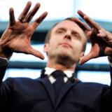 Emmanuel Macron taler under en startupcamp i Paris. Hans vision om et Frankrig, der ikke blot tæller 246 oste, men også hundredtusindvis af iværksættere, er på vej til at blive virkelighed.