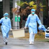 Jinyintan-hospitalet i Wuhan i Kina, hvor patienter smittet med den nye coronavirus bliver behandlet. Virussen har indtil videre kostet fire mennesker livet.