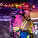 42-årige Cheme Fairlie er kaptajn og paramediciner på Cedar Rapids Fire Departments største brandbil.