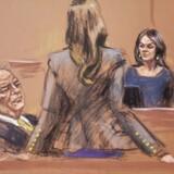 Filmproduceren Harvey Weinsteins forsvarsadvokat Donna Rotunno forsøgte torsdag at så tvivl om skuespillerinden Annabella Sciorras troværdighed i voldtægtssagen mod Weinstein. Tegning: Jane Rosenberg/Reuters/Ritzau Scanpix