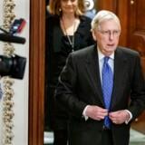 Republikanernes leder af Senatet, Mitch McConnell. Lyt med, når Mads Fuglede og David Trads giver den seneste analyse af de første 16 timer af rigsretssagen, der finder sted i Senatet.