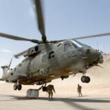 Britisk transporthelikopter i Helmand-provinsen 2013. Danske soldater har ifølge interne rapporter været vidner til mulige overgreb tilbage i september 2006, en måned før de internationale ISAF-styrker fik mandat til at operere overalt i Afghanistan.