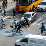 Cyklister ved Dronning Louises Bro. Antallet af dræbte og alvorligt tilskadekomne i trafikken i Københavns Kommune er øget med 30 procent alene i 2018. Der er tale om det højeste antal siden 2008, viser en trafiksikkerhedsredegørelse fra Københavns Kommune.