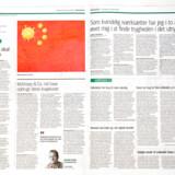 Tegning af coronavirus på det kinesiske flag af Jyllands-Postens tegner Niels Bo Bojesen i Jyllands-Postens udgave mandag den 27. januar 2020.