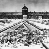 Hovedvagthuset i Aushwitz, også kaldt »porten til helvede«.