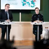 Fungerende finansminister Morten Bødskov og social- og indenrigsminister Astrid Krag holder pressemøde om regeringens udspil til en udligningsreform, i Finansministeriet torsdag den 30. januar 2020.