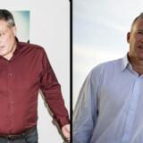 Peter Warnøe slipper ikke for sin modstander Lars Tvede, selvom Tvede har fået en fyreseddel. De to er forbundet i et skæbnesfællesskab i et fælles investeringsselskab, som Lars Tvede kontrollerer. Arkivfoto: Asger Ladefoged og Nils Meilvang/ Ritzau Scanpix