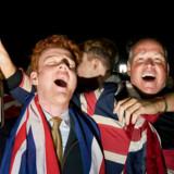 Briterne har forladt EU. Festen på Parliament Square ved Westminster fik den store forløsning klokken 23, lokal tid.