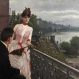 Paul Fischers maleri fra Søerne. Maleriet er med på museets særudstilling.
