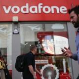 Vodafone er verdens næststørste mobilselskab og vil nu begynde at fjerne Huawei-udstyr fra centrale dele af mobilnettet efter den britiske regerings beslutning om at sætte en grænse for, hvor stor en andel Huawei må få. Arkivfoto: Daniel Leal-Olivas/AFP/Ritzau Scanpix