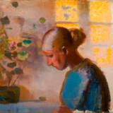 Sammen med Skagen Museum har Statens Museum for Kunst sammensat en udstilling om Anna Ancher. I modsætning til de andre Skagensmalere var Anna Ancher lokal og holdt sig livet igennem til lokale motiver. Dette er et udateret »Studie af en sypige i blåt«.