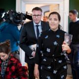 Fungerende finansminister Morten Bødskov og social- og indenrigsminister Astrid Krag holder pressemøde om regeringens udspil til en udligningsreform, i Finansministeriet torsdag den 30. januar 2020. (Foto: Liselotte Sabroe/Ritzau Scanpix)
