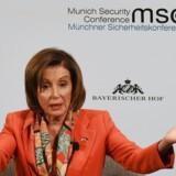 Lederen af Repræsentanternes Hus i den amerikanske kongres, demokraten Nancy Pelosi, kom i München med hårde udfald mod både præsident Donald Trump og Kina.