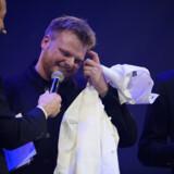 Rasmus Munk fra restauranten Alchemist modtog mandag aften to michelinstjerner ved uddelingen i Trondheim i Norge. Ole Martin Wold/Ritzau Scanpix
